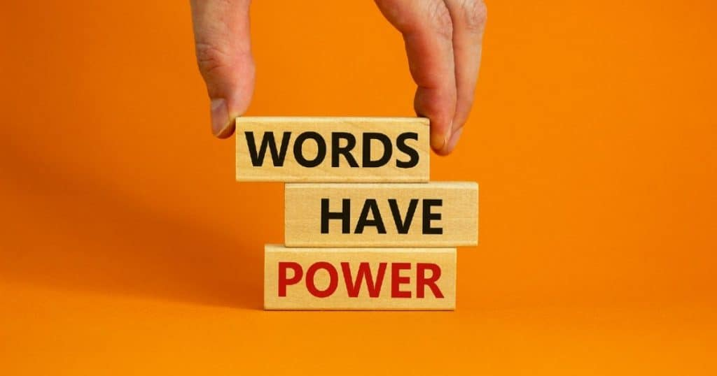 the power of the words
